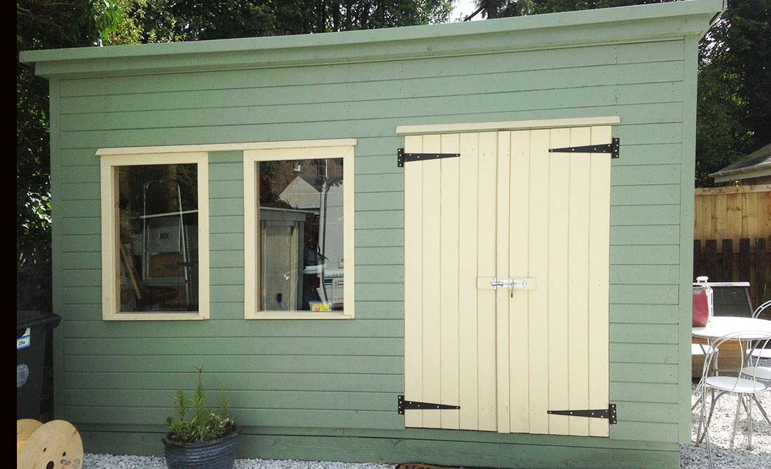 Large Green Timber Shed